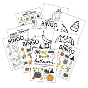 fun halloween activity for kids bingo printable free colouring pages playdough mats