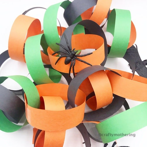 halloween activity for kids paper chain countdown