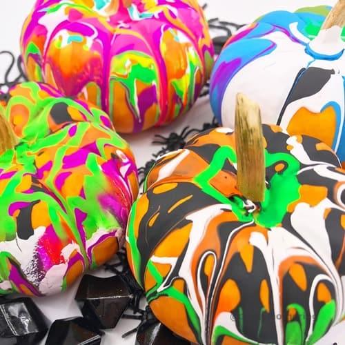 paint pour pumpkins toddler friendly halloween decor fun activities