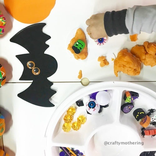 halloween playdough toddler