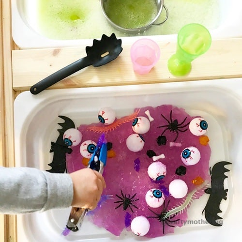 fun halloween jelly sensory play for kids toddlers
