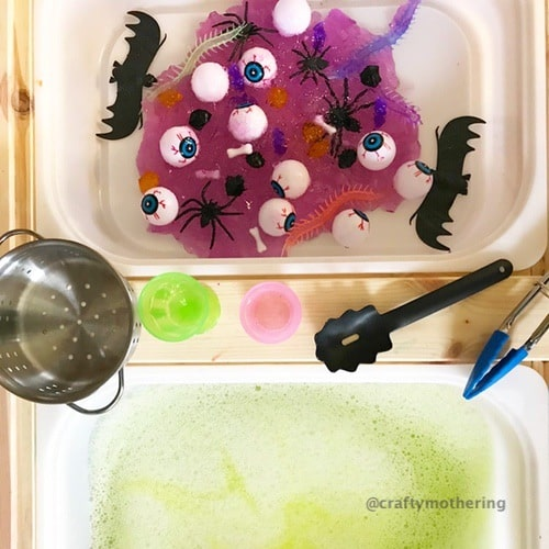 fun halloween activity for kids jelly sensory play