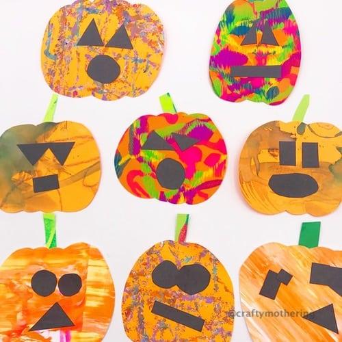 halloween activity for kids pumpkins process art halloween decorations art for kids