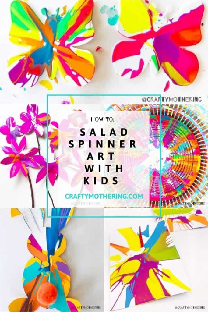 salad spinner spin art for kids