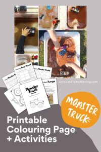 monster truck printables