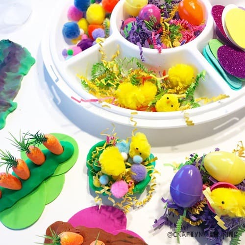 playdough loose parts easter play for kids