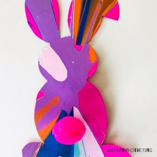 spin paint easter bunny craft for kids